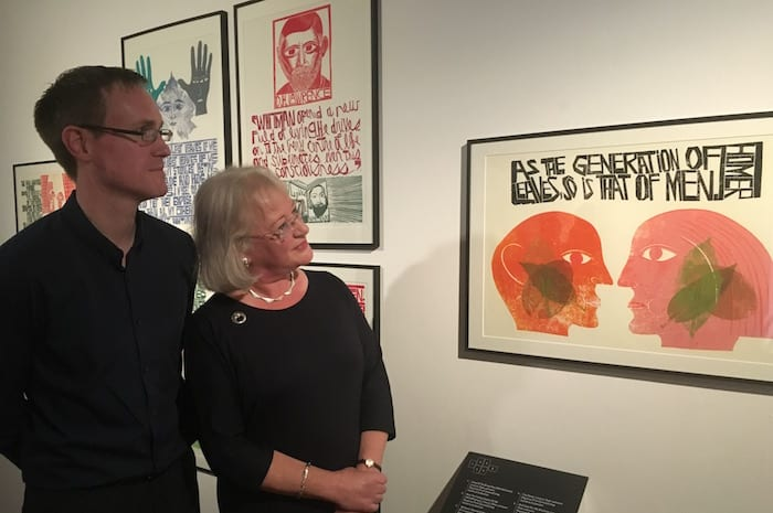 Jim Creed with Olwen Stocker, Piech's daughter