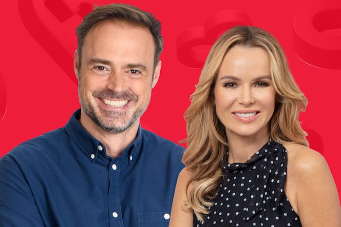 Jamie Theakston and Amanda Holden at Heart Radio